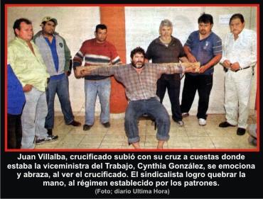 1-Juan Villalba-crucificado-Cynthia-González-linea-30-de-Luque- Derechos-Humanos-El-hombre-de-Kíev-