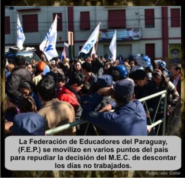 3 F.E.P- marcha-rutas-M.E.C.-policia-departamentos