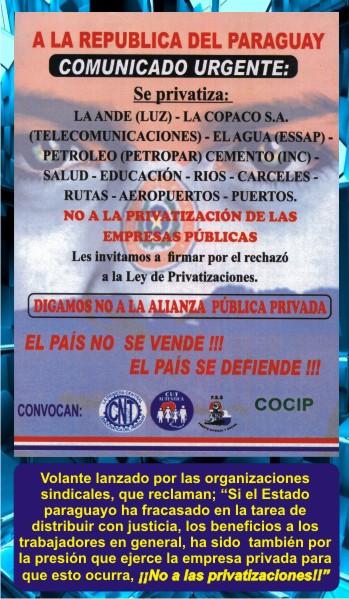 6-Federaciones-Sindicales-Protestas-Congreso-Senado-Diputados-Banco-Central-Paraguay-ANDE-Federación-Educadores-Paraguay-Marta-Lafuente
