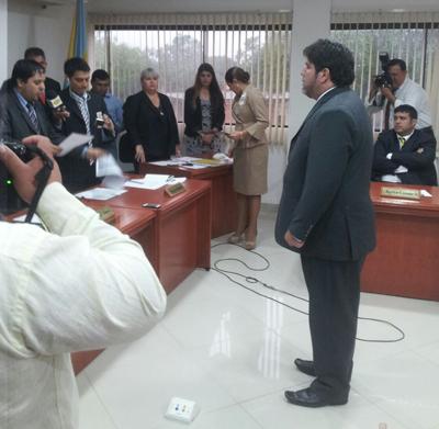 juramento de Rodrigo Blanco, presidente de la junta municipal